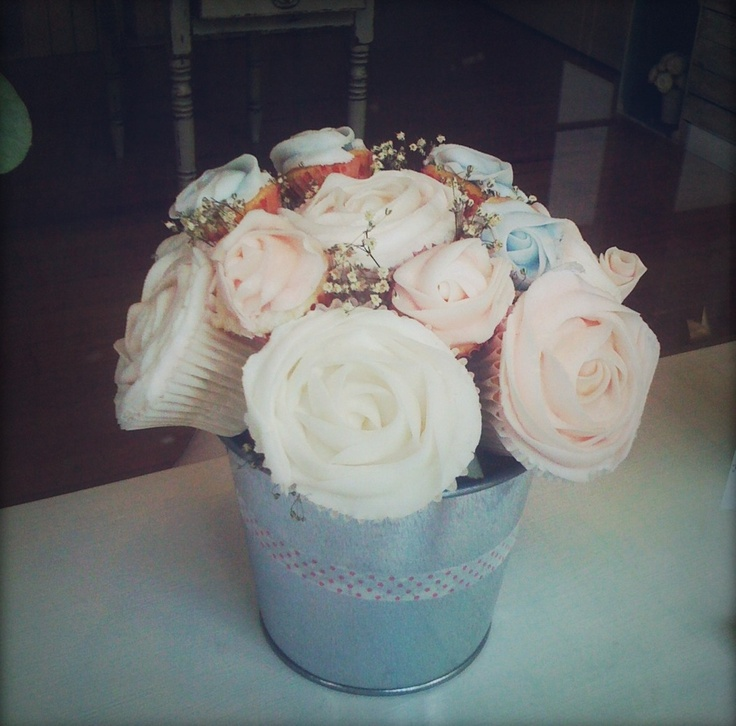 cupcake bouquet seen in 'Cupcakery', London. so cute!