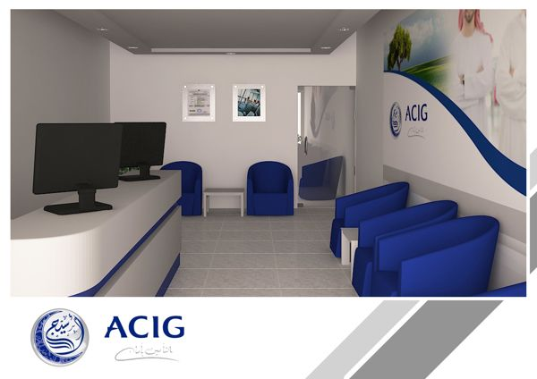 ACIG Office by M. Dahish, via Behance