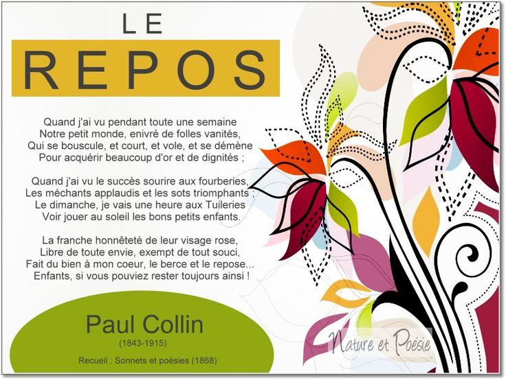 Paul Collin (1843-1915) Recueil : Sonnets et poésies (1868):