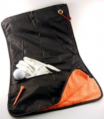 Rain Towel. his rain towel is an accessory every golfer should carry.  The multi-function design makes it a better towel. Take it to the greens, put your grips inside, and you'll never have wet grips from dew on the grass. If you run into a rain shower, you'll always have a dry towel to shelter valuables and your glove.