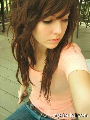 long hair short layers