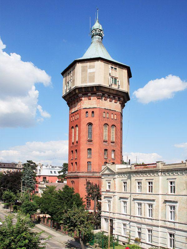Wodociągowa wieża ciśnień w Świdnicy. Wybudowana w latach 70. XIX w.