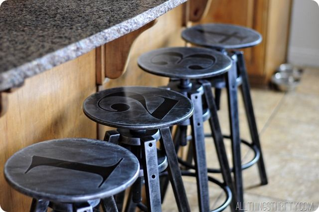Fun industrial stools! Easy as 1-2-3!!