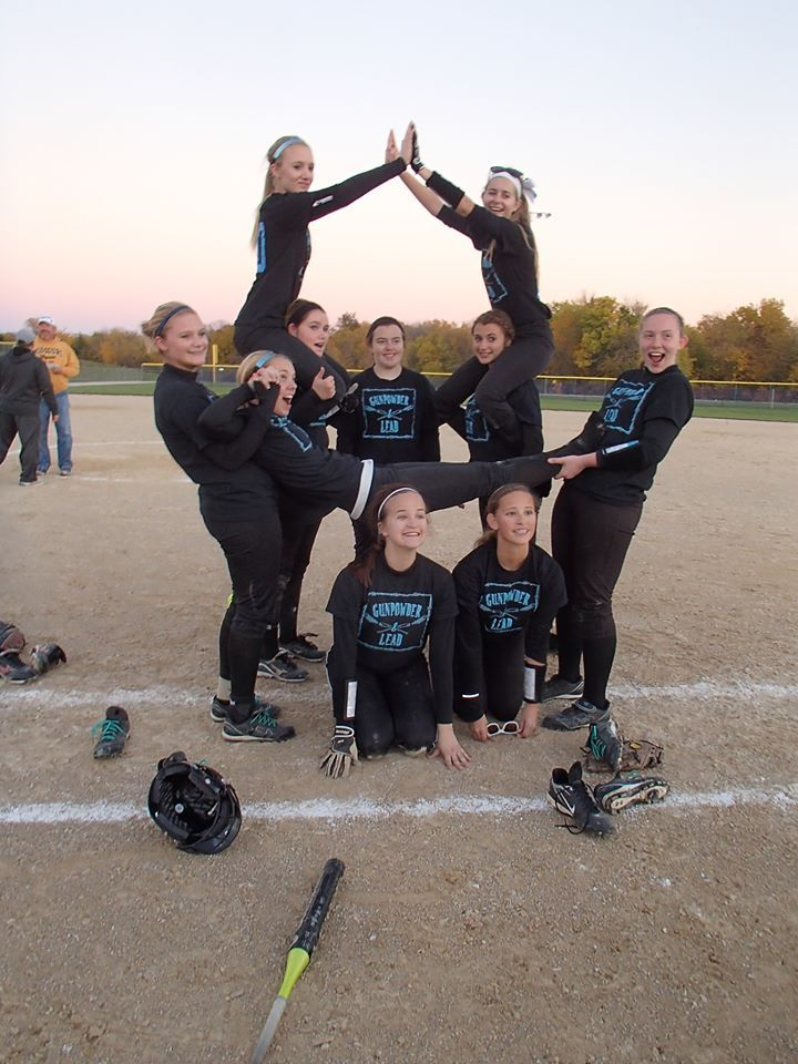 How fun is this Softball team's name? Gunpowder and Lead Support their Booster campaign.