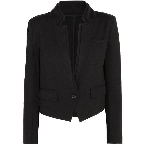 Karl Jill jersey blazer ($329) ❤ liked on Polyvore