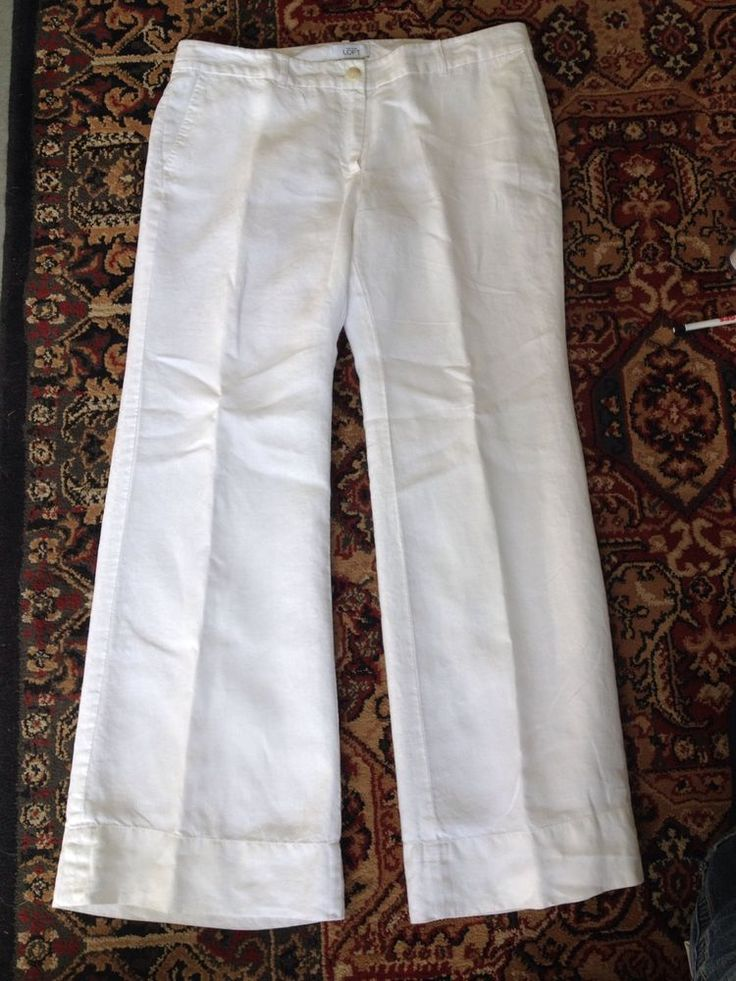 Trousers, Linen pants and White linens on Pinterest