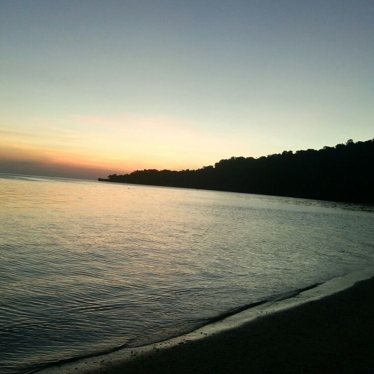 Sunset at amanwana moyo island Indonesia