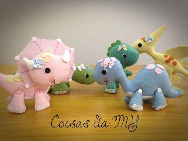 Dinossauro em Feltro | Coisas da MY | Elo7