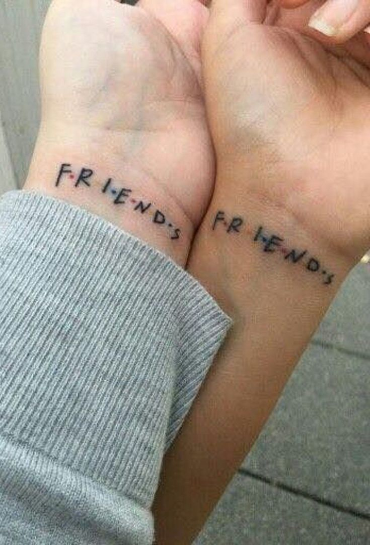 Matching Bestfriend Small Wrist Tattoo Ideas from Friends TV Show - www.MyBodiArt.com