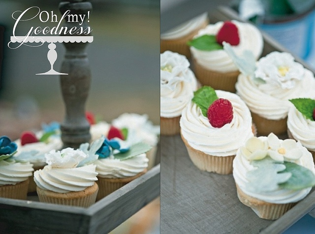 Meyer Lemon Raspberry cupcakes, made for my brother's wedding. Recipe ...