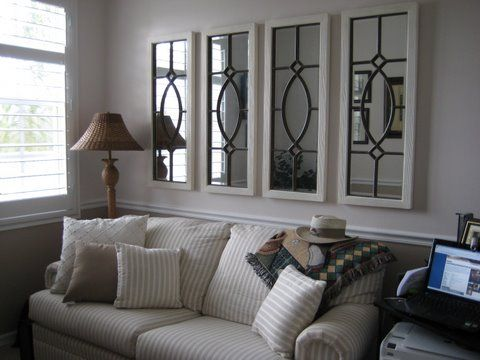 Would love to put these mirrors above my couch. Maybe with a different color frame...