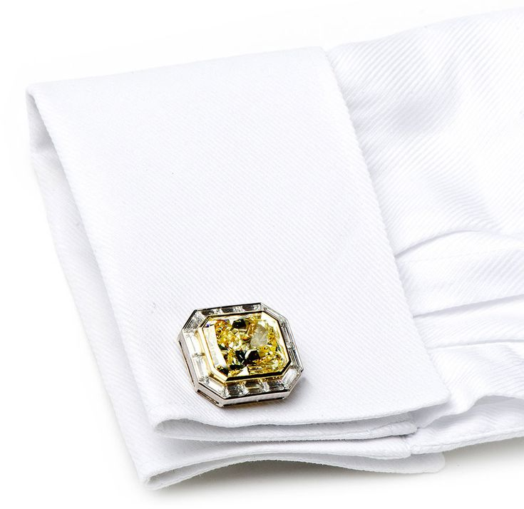 Canary Diamond Cufflinks by Jacob & Co... A MUST !