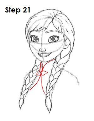 Draw Anna Step 21
