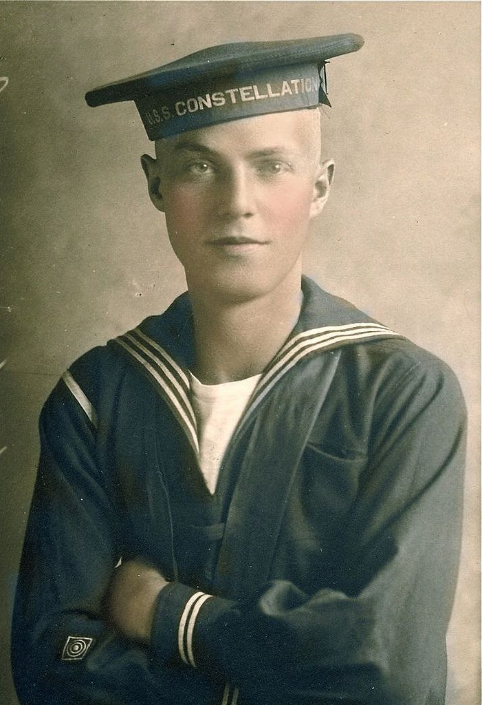 His identity has been lost in time, but he was a sailor who served on the USS Constellation, probably during the Civil War. The Constellation spent much of the war as a deterrent to Confederate cruisers and commerce raiders in the Mediterranean Sea. It's the last sail-only warship designed and built by the US Navy.
