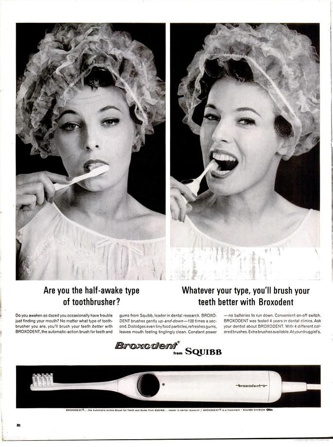 Broxodent Electric Toothbrush (1963)- Not the toothbrush but the curler cover!