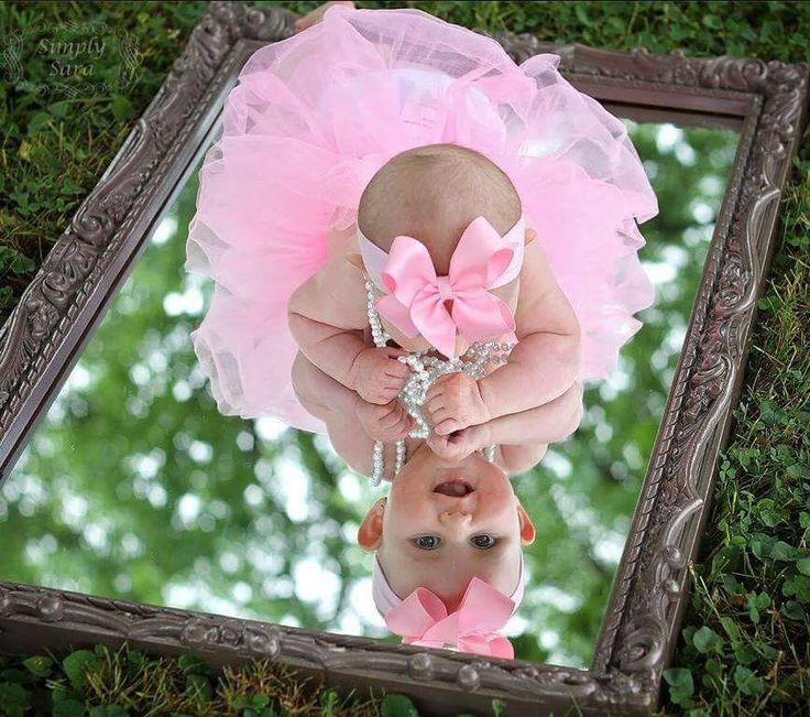 Baby photo. My reflection.