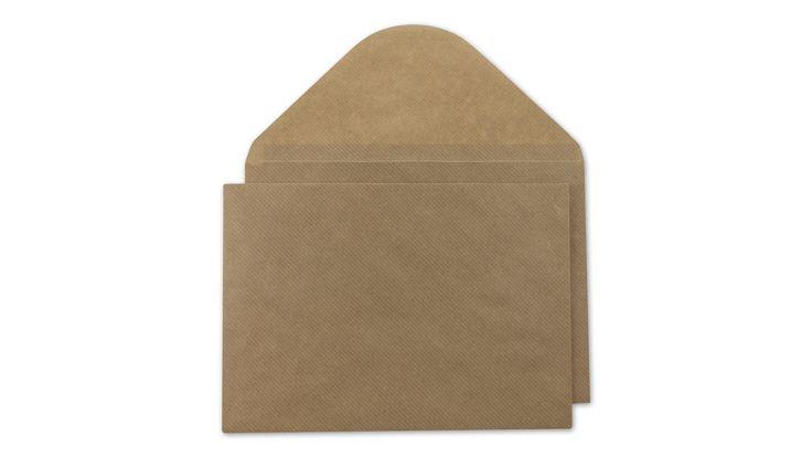 Briefumschlag C5, gerippt, braun, Kraftpapier nassklebend