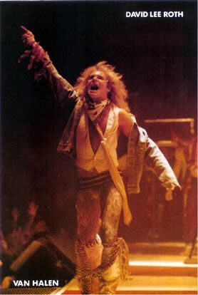David Lee Roth Postcard #1