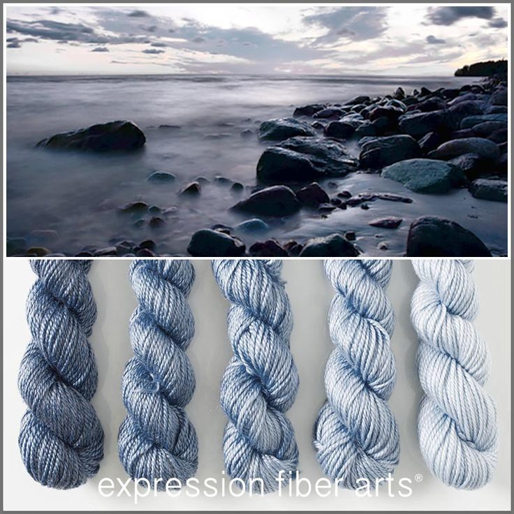 Expression Fiber Arts, Inc. -  ROCKY SHORE HUES 'LUSTER' WORSTED MINI GRADIENT YARN KIT, $49.95 (http://www.expressionfiberarts.com/products/pre-order-rocky-shore-hues-luster-worsted-mini-gradient-kit.html)