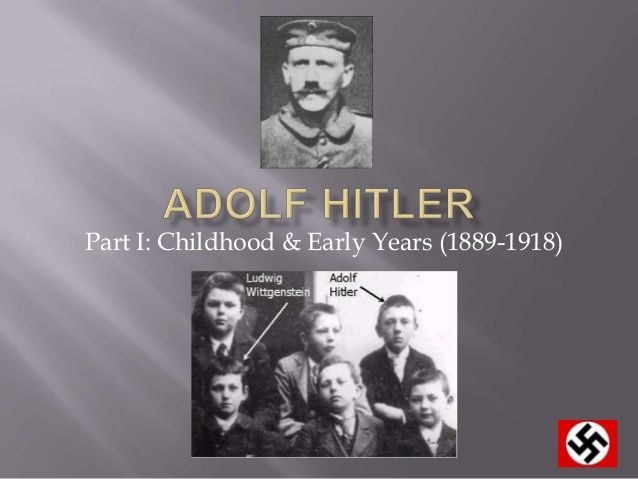 Slideshow featuring information about Hitler's childhood, early life, his impact in WWII and other tidbits.