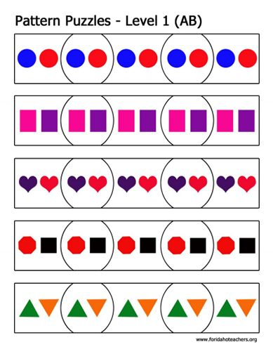 Here's a set of AB pattern puzzles.