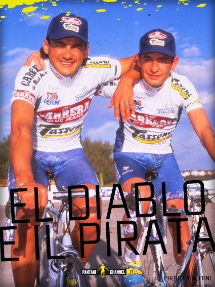 El Diablo Claudio Chiappucci und Il Pirata Marco Pantani