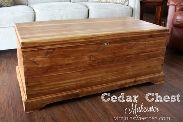 Cedar Chest Makeover - This proves that not ever piece of furniture has to be painted to get a makeover.