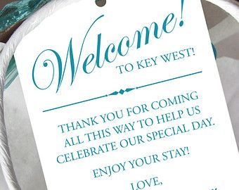 Thank You Gifts For Destination Wedding Guests : ... - Gift Tags for Wedding Hotel Welcome Bag - Destination Wedding Tags