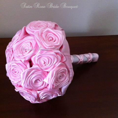 Satin Rose Bridal Bouquet – Baroque Bridal Boutique