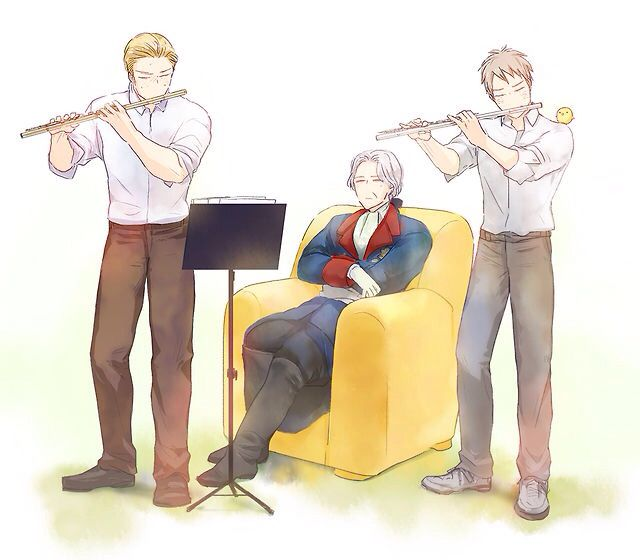 Germany and Prussia with Old Fritz YES THEYRE BOTH FLUTIES!!!! I TOLD WE'RE THE BEST!!!! IN YOUR FACES TRUMPETS!!!!!!