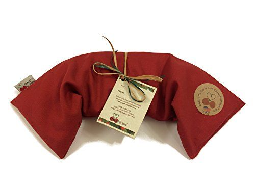 Red Neck Cherry Pit Pillow - Soothe Neck Pain - Durable Denim - Soft to the Touch - Cherry Stone Heat Pack - Heat Pad - Unique Birthday or Christmas Present - Made in America CherryPitPillow http://www.amazon.com/dp/B00QOIR2Q2/ref=cm_sw_r_pi_dp_qjfHub1EZ9DKS