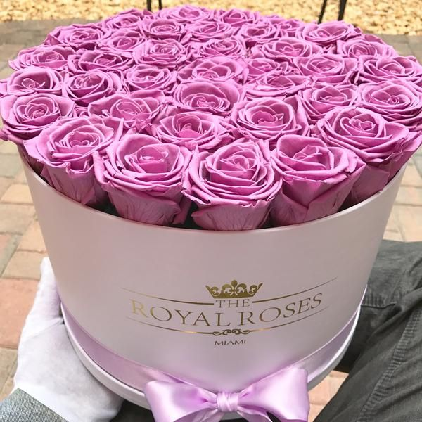 Real Long Lasting Roses Round Box Lifetime Is Over 1 Year Flower Box Gift Rose Flower Gift