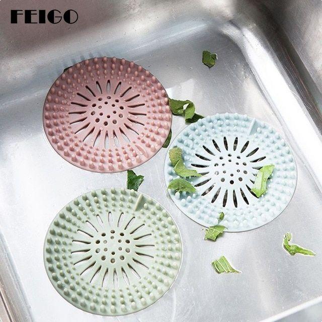Flower Shape Silicone Floor Drain Filter Home Sink Strainer Hair Trash Catcher