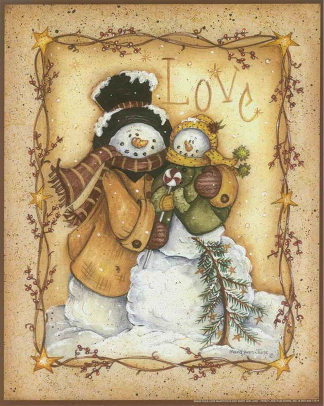 Pure Hand-painted Cartoon Snowman Series Of Oil Paintings ...