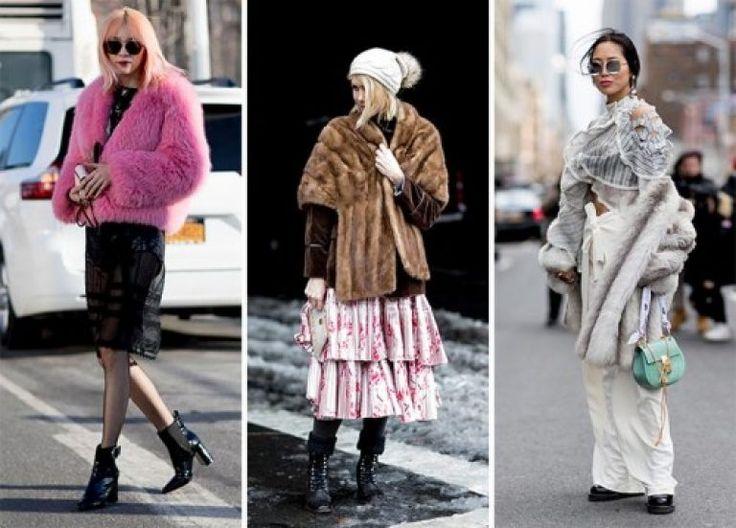 Неделя моды в Нью-Йорке Весна 2017: вдохновение уличным стилем   Модные  платья