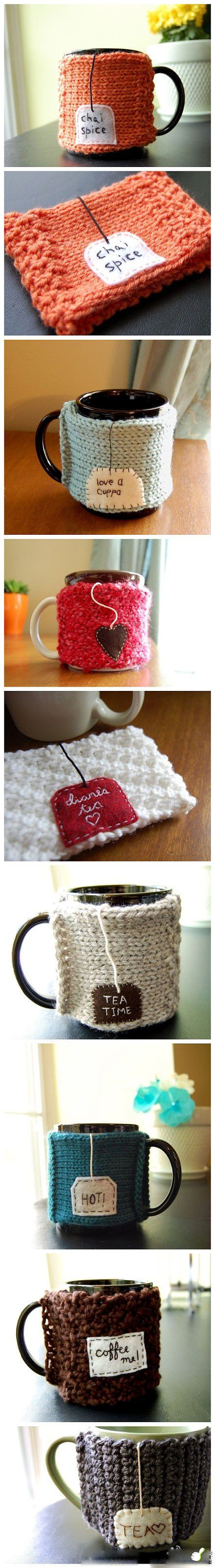 Genius way to keep hot drinks warm, and they're super cute :)