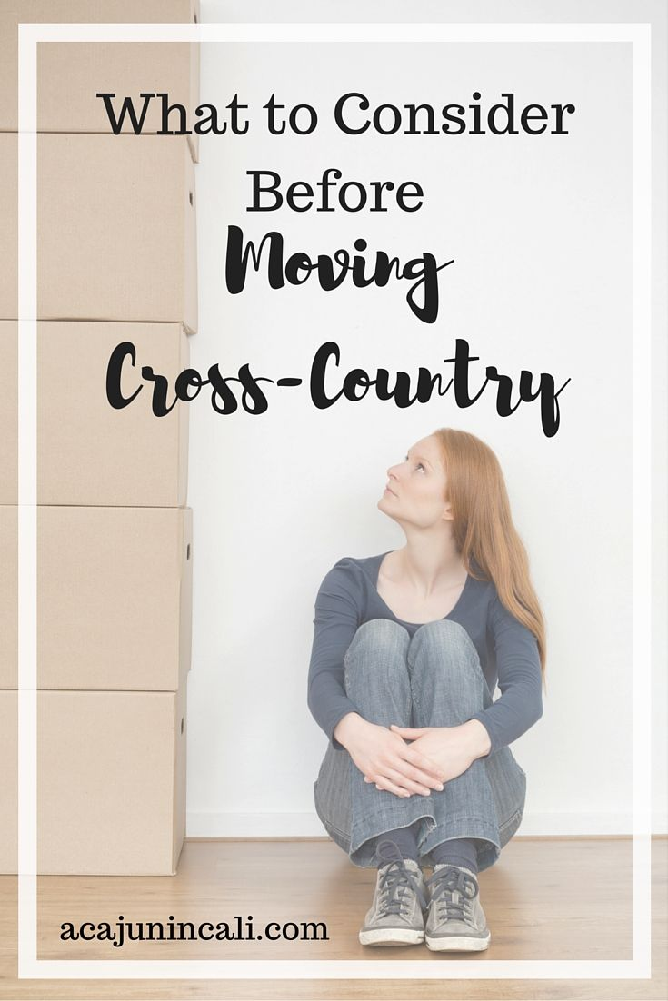 Looking for advice on moving cross country? Here are a few tips and things to consider before making your move. #movingtips