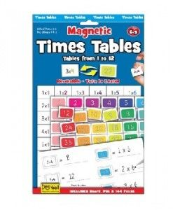 Magnetic Times Tables $15.95 #sweetcreations #education #family #organisation #learning #charts