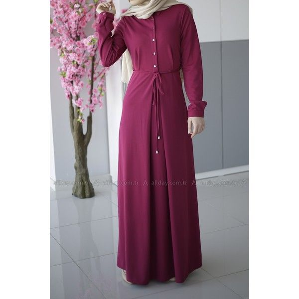 Turkish fashion hijab style simple dress with casual look
