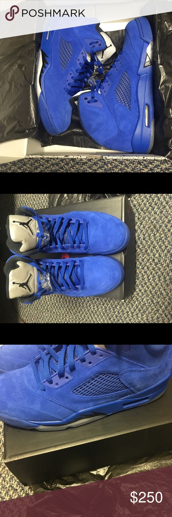 Retro Jordan 5s Blue retro Jordan's 5 size 11.5 willing to negotiate price text 313-636-4356 for more questions & picture Jordan Shoes Sneakers