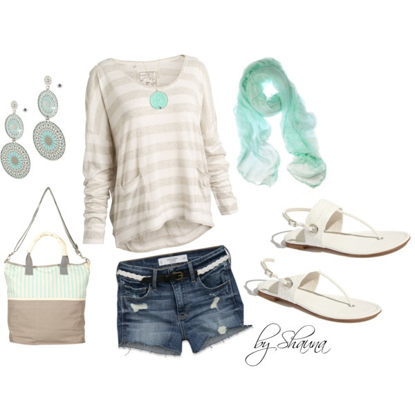 comfy summer, created by shauna-rogers: Style, Clothes, Cute Outfits, Spring Summer, Summer Outfits, Summer Night, Spring Outfit, Scarf, Comfy Summer