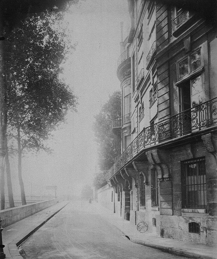 quai d'Anjou - Paris 4ème L'hôtel Lambert au n°1 du quai d'Anjou photographié par Eugène Atget en 1898.