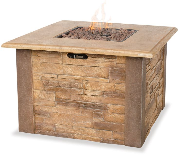 Uniflame Lp Gas Outdoor Fire Pit Table With Faux Stone