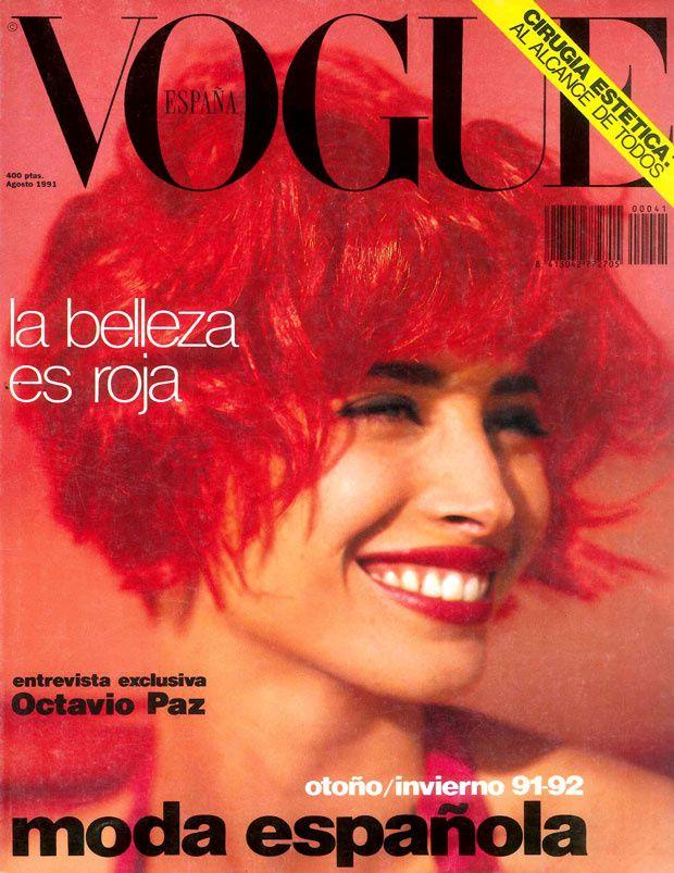 Christy Turlington by Sante D'Orazio Vogue España August 1991