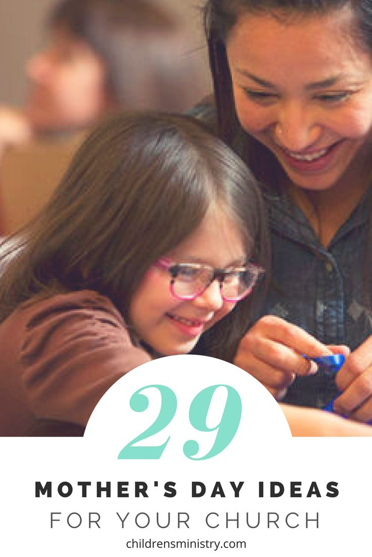 Use these Sunday school lessons, crafts, games, and events to celebrate mothers on Mother's Day at your church.