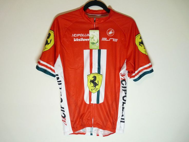 Ferrari cycling jersey F1 Formula 1 short sleeve maillot cycliste - NWT - XL