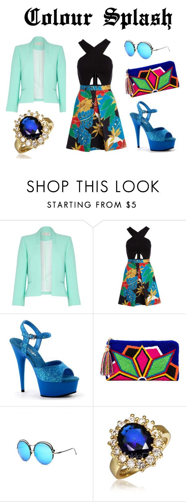 """""""Colour Splash"""" by saramichael on Polyvore featuring Damsel in a Dress, Alice + Olivia and The Way U"""