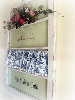 Old Window DIY Home Decor. Great for a business or to hang on your door.