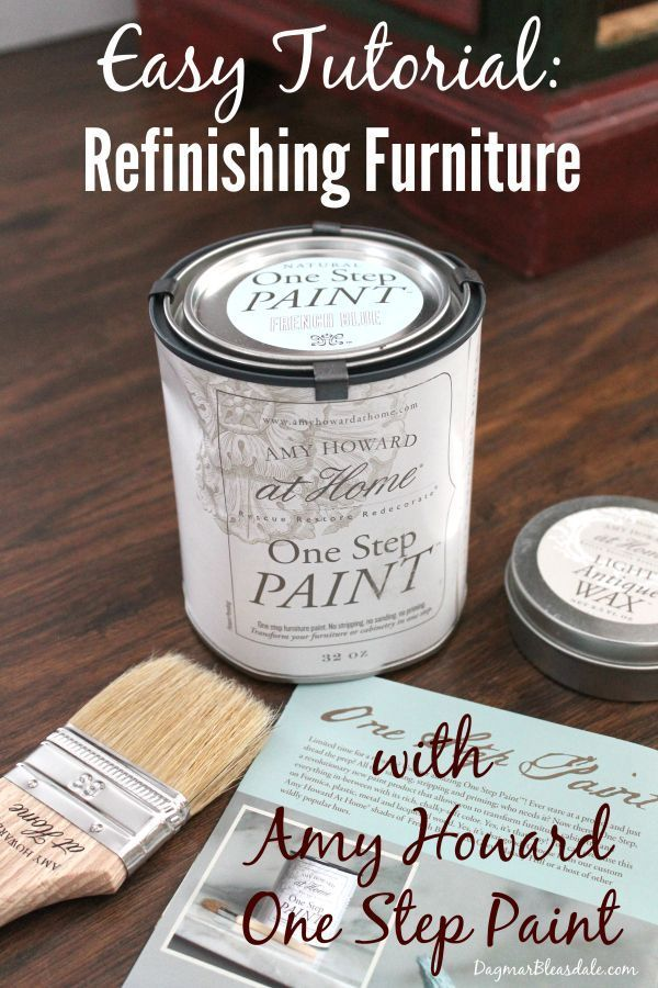 Don't buy new furniture - paint your old ones! It only takes 1 or 2 hours with this DIY paint. Tutorial for painting furniture with Amy Howard Home One Step Paint! #painting #furniture #frugal #DIY #chalkpaint #AmyHoward #paint #redo #upcycling