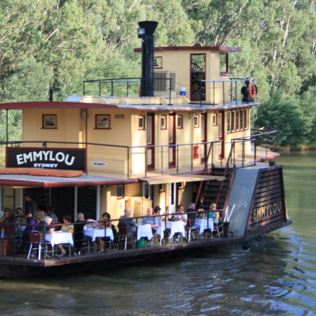 A favorite place to relax - on a Murray River Paddle-steamer :) Echuca